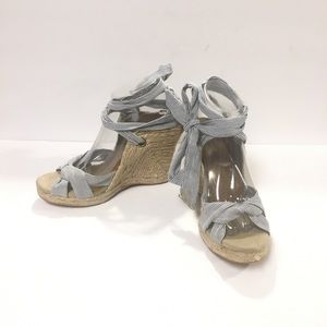 Old Navy Wedges Espadrille Sandals Lace Up Size 8